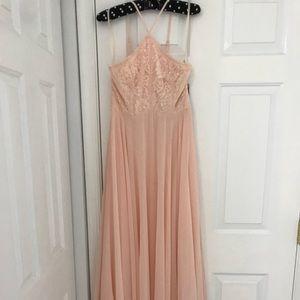 Lulu's Peachy-Pink Bridesmaid Dress,Size M,W/ Tags